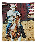 Cowboy On Paint Tapestry