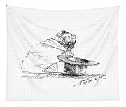 Cowboy Taking A Break  Tapestry