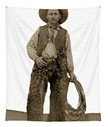 Cowboy With Woolies Cowboy Hat 1900 Tapestry