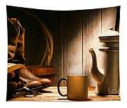 Cowboy's Coffee Break Tapestry