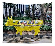 Cow Parade N Y C 2000 - Taxi Cow Tapestry