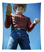 Cowtown Cowboy Tapestry