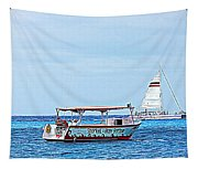Cozumel Excursion Boats Tapestry