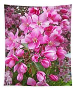 Crab Apple Blossoms Tapestry
