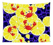 Crabs On Lemon Tapestry