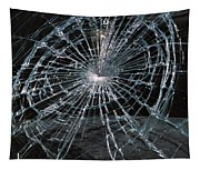 Cracked Glass Of Car Windshield Tapestry