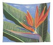 Crane Flower Paradise Tapestry