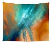 Crashing At Sea Abstract Painting 4 Tapestry