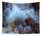 Crashing Falls On Rocks Below Tapestry
