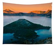 Crater Lake Sunset Tapestry