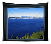 Crater Lake Through Our Window Tapestry
