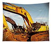 Crawler Excavator - Komatsu - Digger - Machinery Tapestry