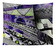 Crazy Cones Purple Greenl2 Tapestry