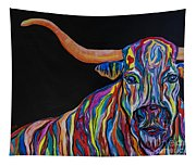 Crazy Woman Bull Tapestry