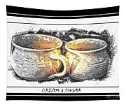 Cream And Sugar - Pottery Tapestry