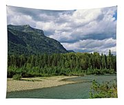Creek Along Mountains, Mcdonald Creek Tapestry