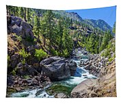 Creek Flowing Through Rocks, Icicle Tapestry