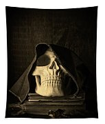 Creepy Hooded Skull Tapestry