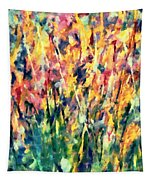 Crescendo Of Spring Abstract Tapestry