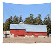 Crimson Barn Tapestry