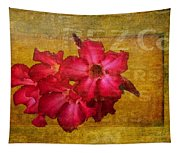 Crimson Floral Textured Tapestry