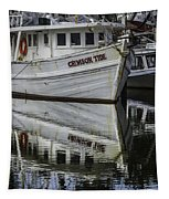 Crimson Tide And Reflection Tapestry