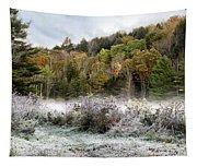 Crisp Morning Frost Hillside Landscape Tapestry