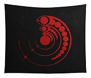 Crop Circle Formation Near Avebury Stone Circle In Wiltshire England In Red Tapestry