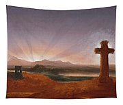 Cross At Sunset Tapestry