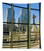 Cross At World Trade Towers Memorial Tapestry