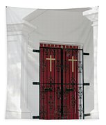 Key West Church Doors Tapestry