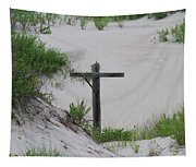 Cross In The Dunes Tapestry