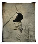 Crow On A Crooked Old Cross Tapestry
