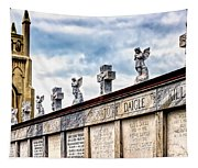 Crosses And Angels Tapestry