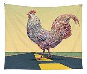 Crossing Chicken Tapestry