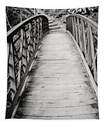Crossing Over - Black And White Tapestry