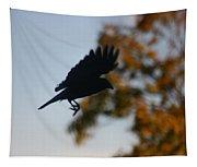 Crow In Flight 1 Tapestry