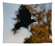 Crow In Flight 2 Tapestry