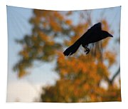 Crow In Flight 3 Tapestry