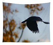 Crow In Flight 4 Tapestry