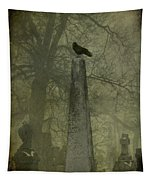 Crow On Spire Tapestry