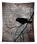 Crow Thoughts Collage Tapestry