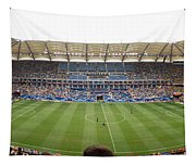 Crowd In A Stadium To Watch A Soccer Tapestry