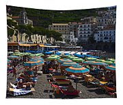 Crowded Beach Tapestry