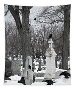 Crows In Gothic Winter Wonderland Tapestry