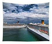 Cruise Ships Port Everglades Florida Tapestry