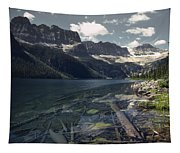 Crystal Clear Mountain Lake Tapestry