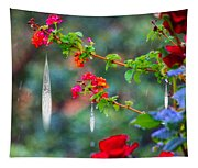 Crystals On Flowers Tapestry