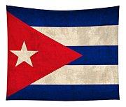 Cuba Flag Vintage Distressed Finish Tapestry