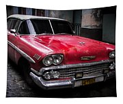 Cuban Vintage Red Tapestry